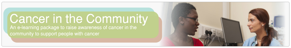 Cancer in the community banner