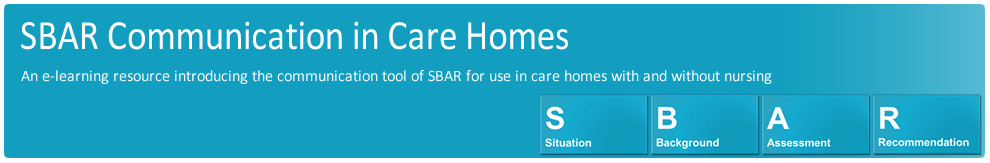 SBAR Communication in Care Homes (CCH)