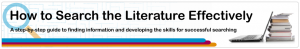 How to Search the Literature Effectively_Banner.