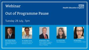 Webinar out of programme pause